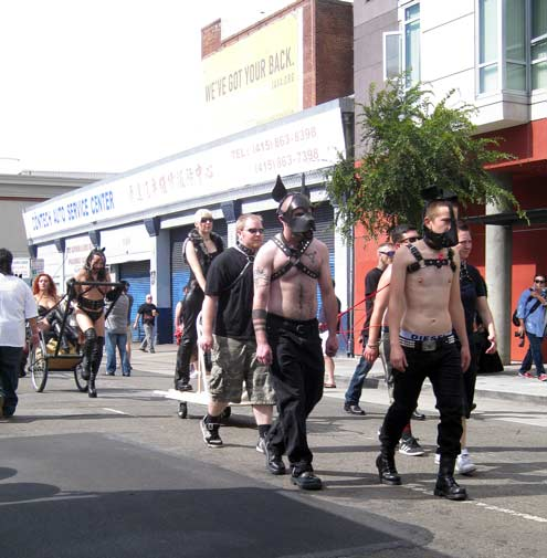 Only a small part of the creature cavalcade at Folsom 2012