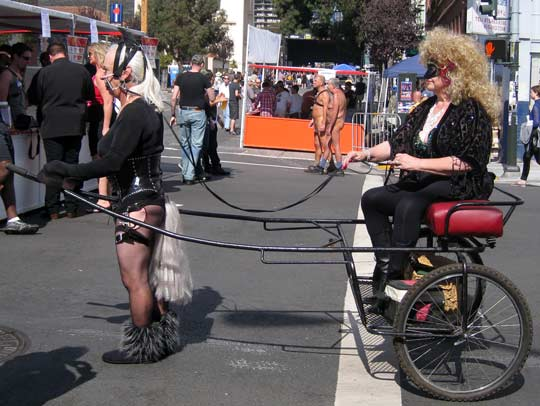 Another ponygirl pulling a cart