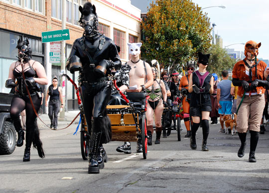 The front of the creature cavalcade at Folsom 2013