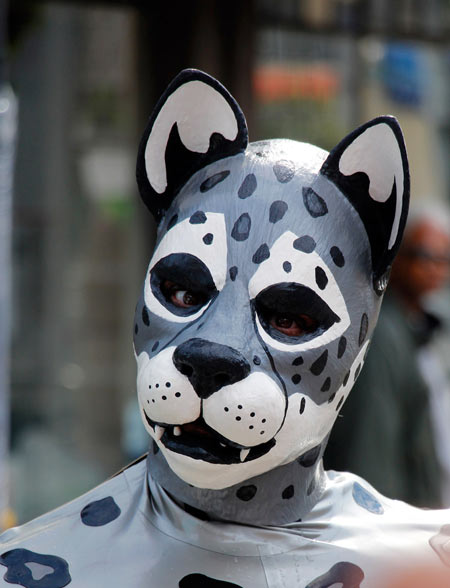 A latex snow leopard