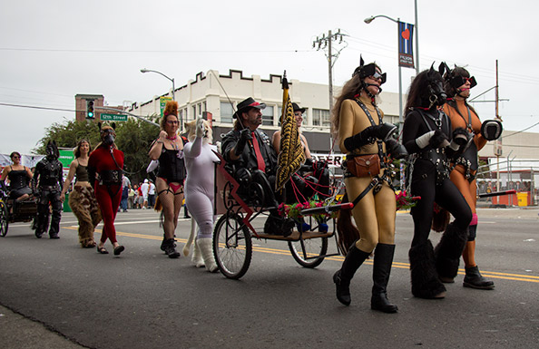Part of the human animal cavalcade at Folsom 2014
