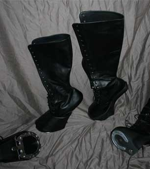 Rector hoof boots versus Punitive Shoes 'Derby' hoof boot
