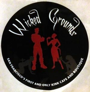 Wicked Grounds sticker. Wicked Grounds is the venue for The Stampede munch (as well as several other BDSM munches)
